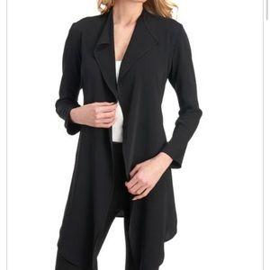 Tahari open front cardigan in black